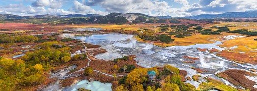 Uzon caldera, Kamchatka, Russia. Part I • AirPano.com • 360° Aerial Panoramas • 360° Virtual Tours Around the World