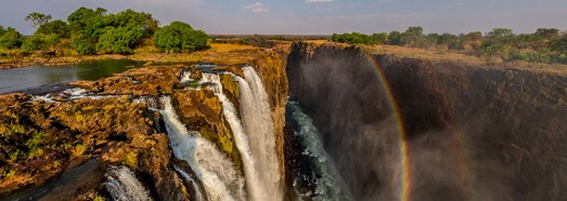 Victoria Falls, Zambia-Zimbabwe. The Pearl of Africa • AirPano.com • 360° Aerial Panoramas • 360° Virtual Tours Around the World