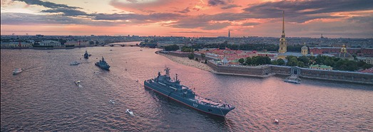 Rehearsal of the Russian Navy parade 2017 • AirPano.com • 360° Aerial Panoramas • 360° Virtual Tours Around the World