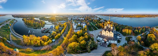 Golden Ring of Russia, Yaroslavl • AirPano.com • 360� Aerial Panorama • 3D Virtual Tours Around the World