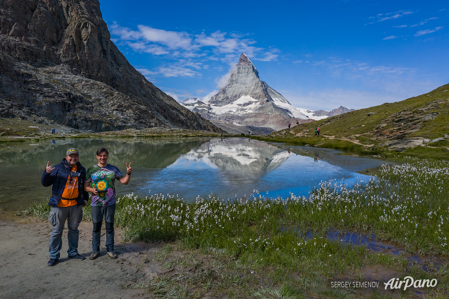 AirPano at Riffelsee Lake, Matterhorn, Switzerland