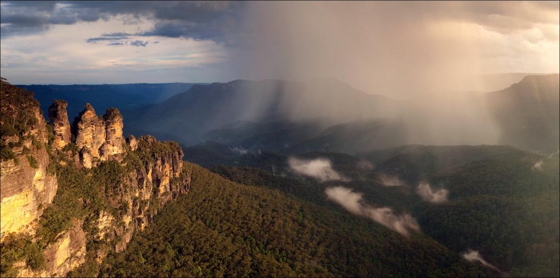 Three Sisters Rock, Blue Mountains, Australia • AirPano.com • Photo
