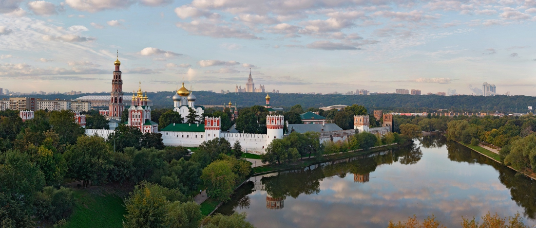 Novodevichy Monastery, Moscow, Russia • AirPano.com • Photo