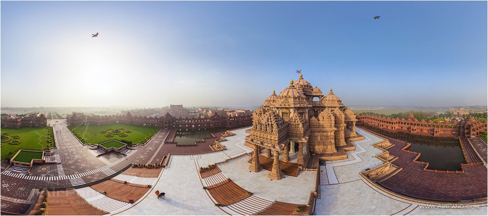 Swaminarayan Akshardham • AirPano.com • Photo