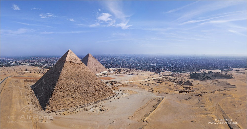 Egypt. Great Pyramids • AirPano.com • Photo