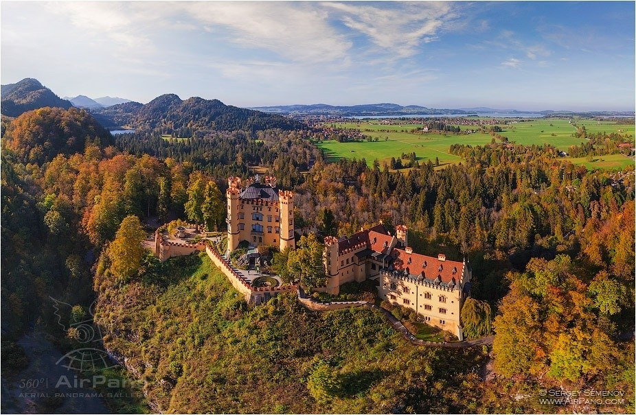 Germany, Hohenschwangau Castle, autumn colors • AirPano.com • Photo