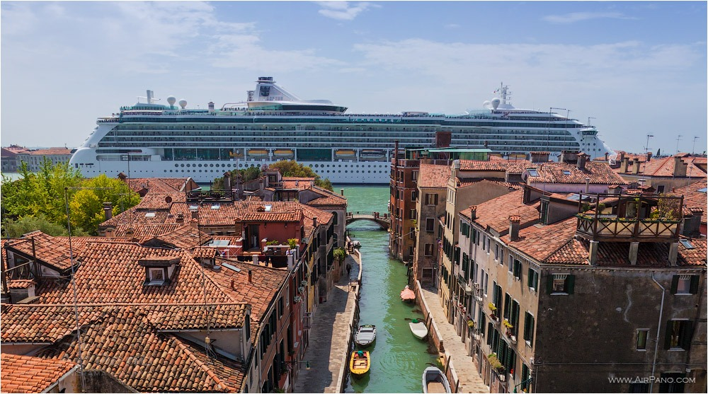 Cruise liner in Venice • AirPano.com • Photo