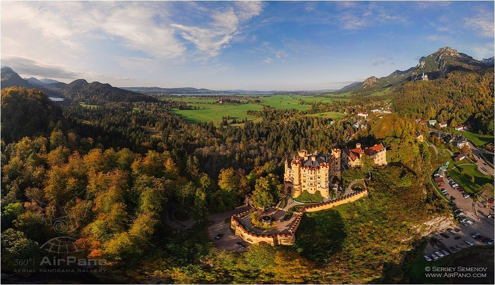 Germany, Hohenschwangau Castle. West side • AirPano.com • Photo