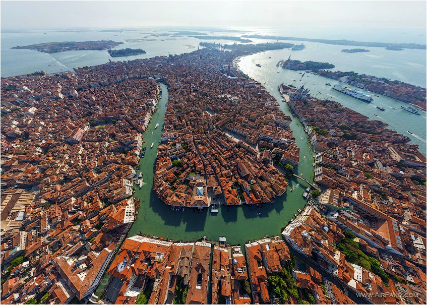 Venice, Over the main channel • AirPano.com • Photo
