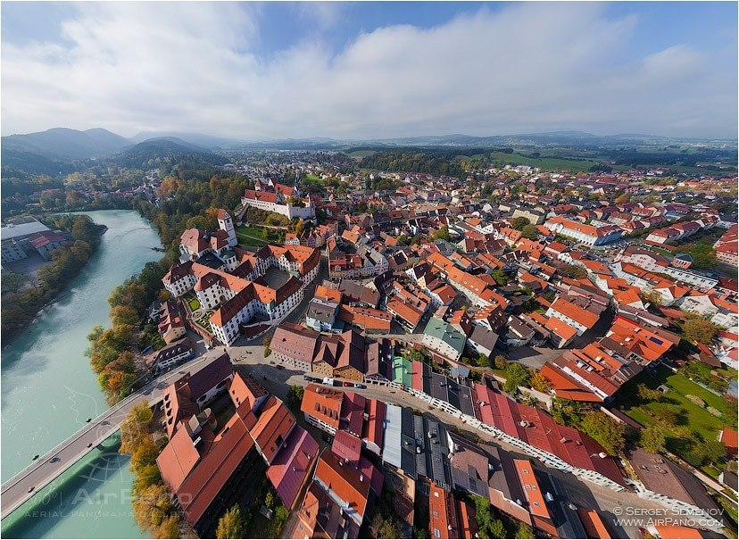 Germany, Fussen Town • AirPano.com • Photo