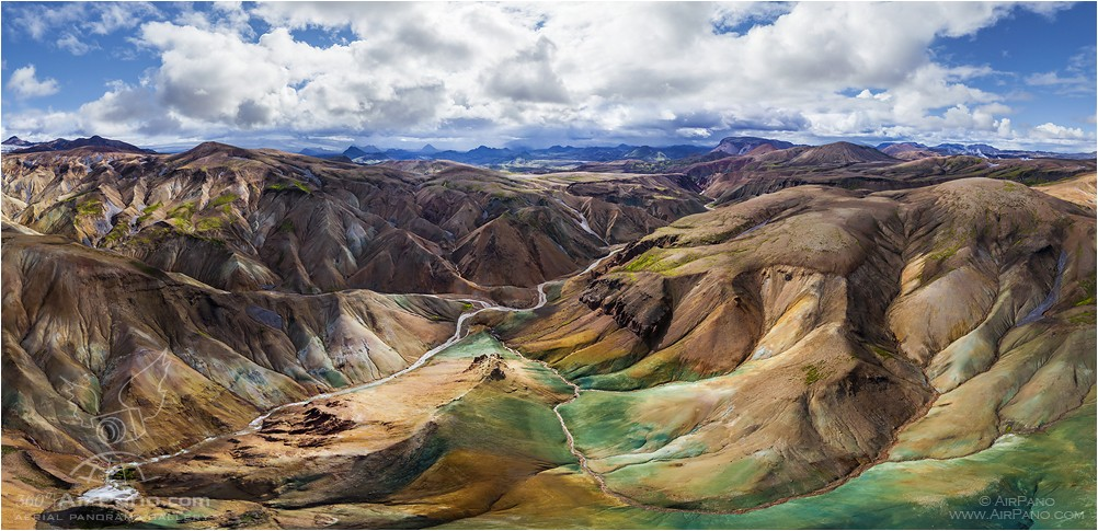 Iceland, colourful mountains • AirPano.com • Photo