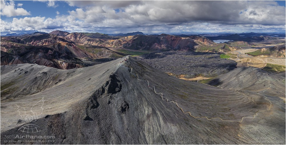 Iceland, mount Blahnukur • AirPano.com • Photo