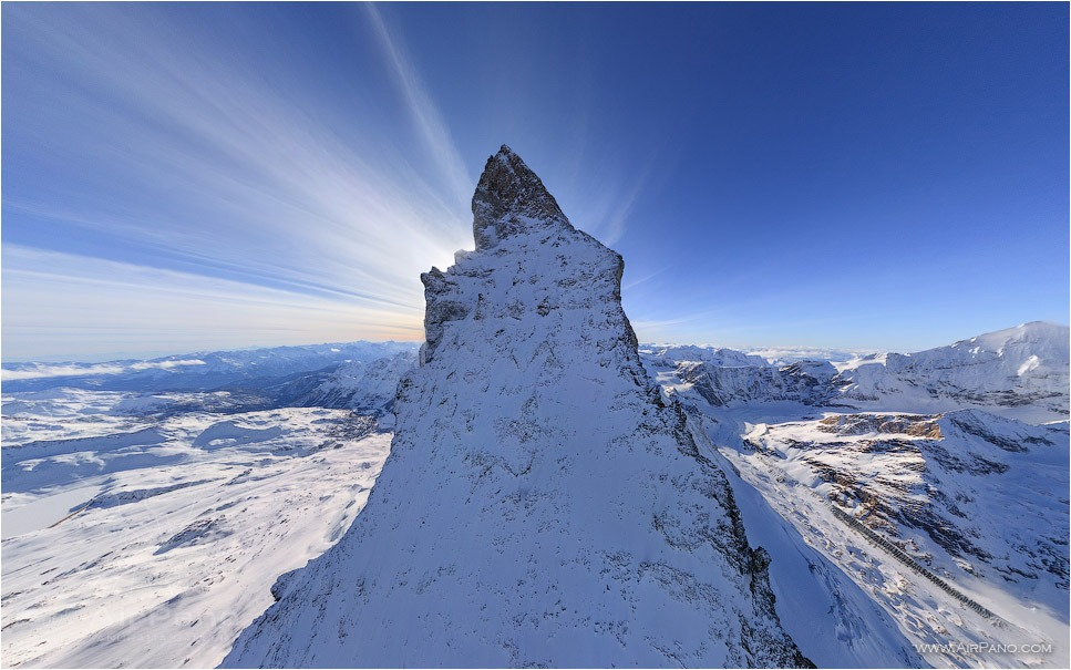 Switzerland, the Matterhorn Mountain • AirPano.com • Photo