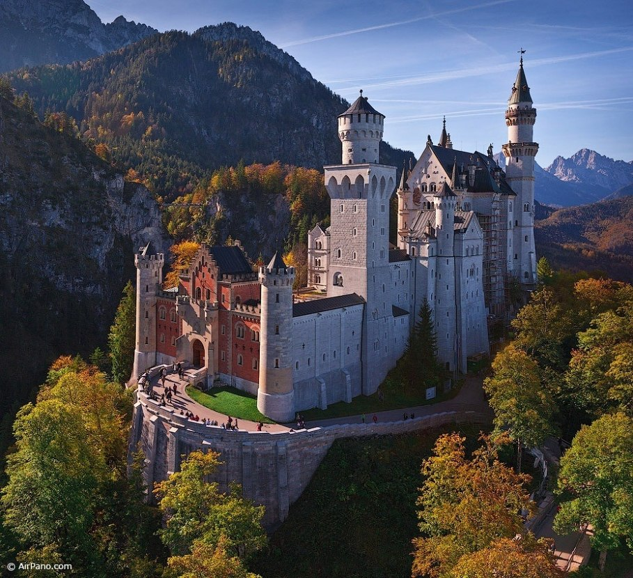 Germany, Neuschwanstein Castle. Main entry • AirPano.com • Photo