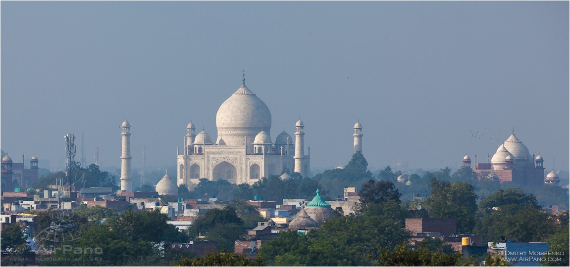 India, Taj Mahal, Agra city • AirPano.com • Photo