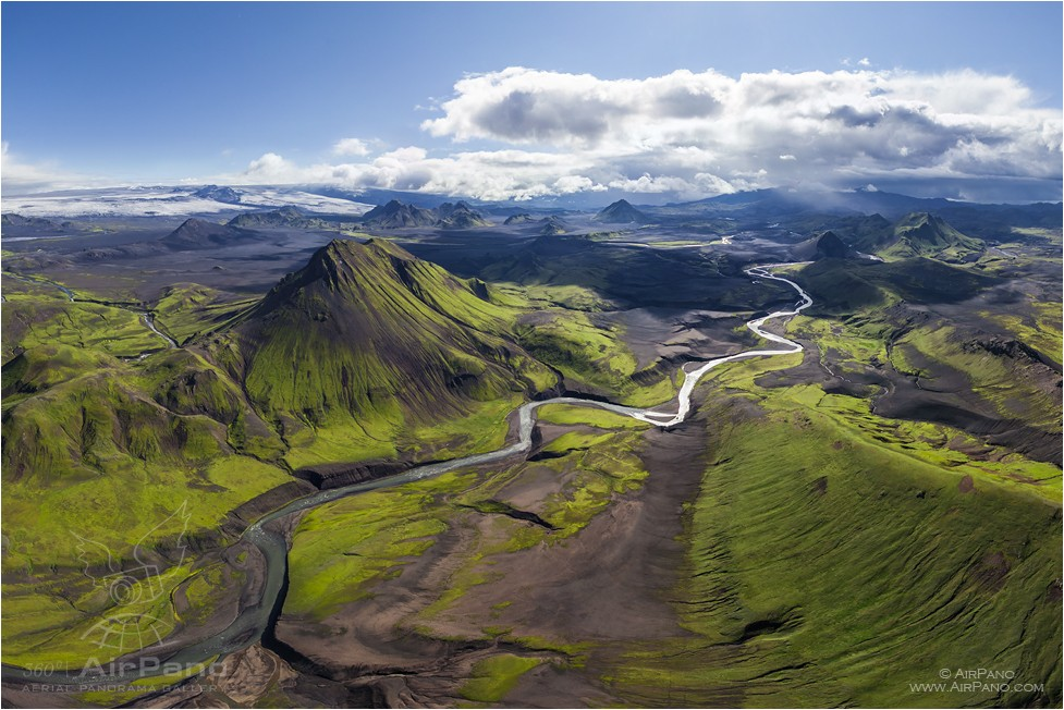 Iceland, mount Storasula #1 • AirPano.com • Photo