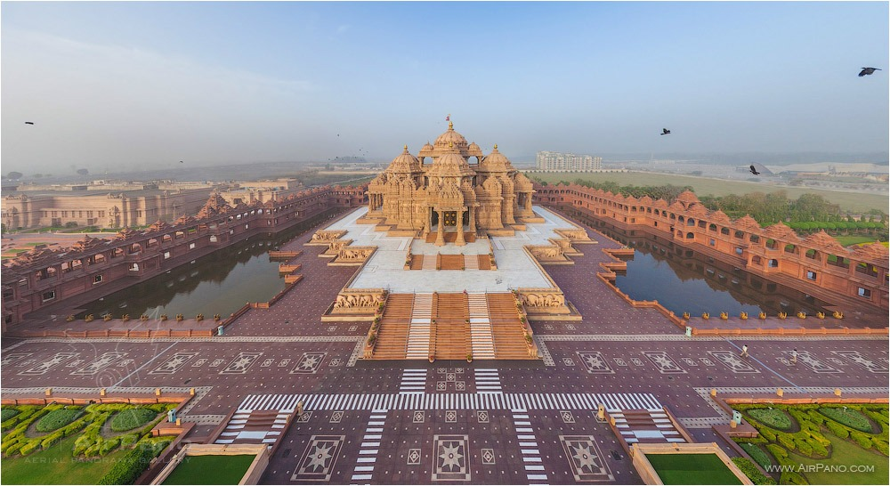 Akshardham, The main entry • AirPano.com • Photo