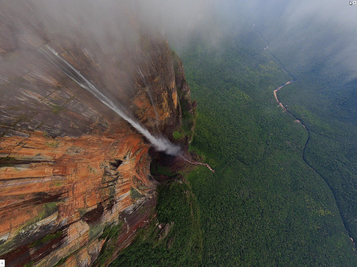 Venezuela, Angel Falls, view from 700m. • AirPano.com • Photo