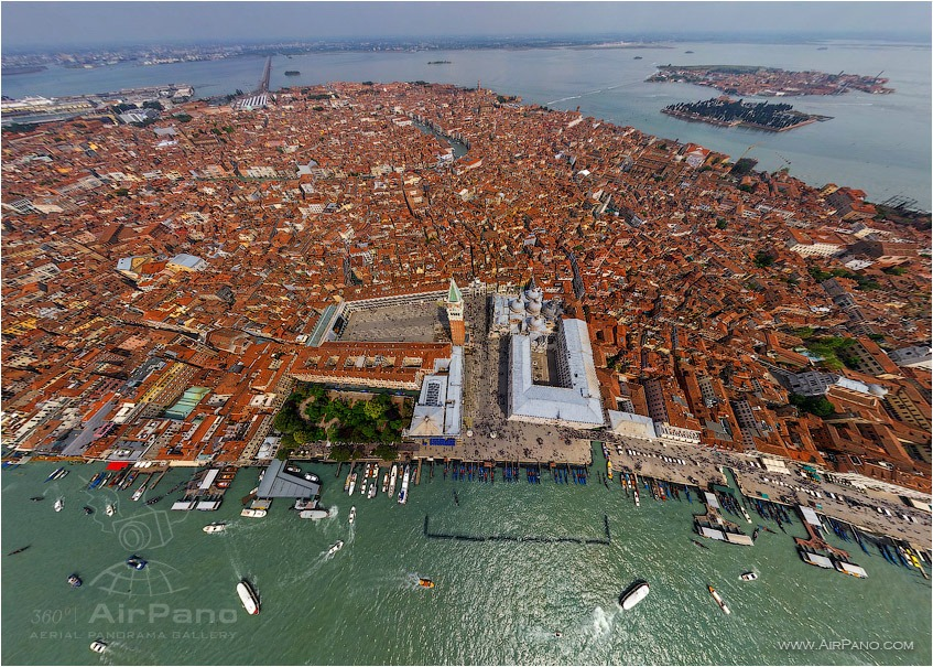 Venice, over St.Marco Square • AirPano.com • Photo