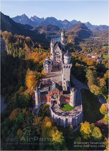 Germany, Neuschwanstein Castle • AirPano.com • Photo