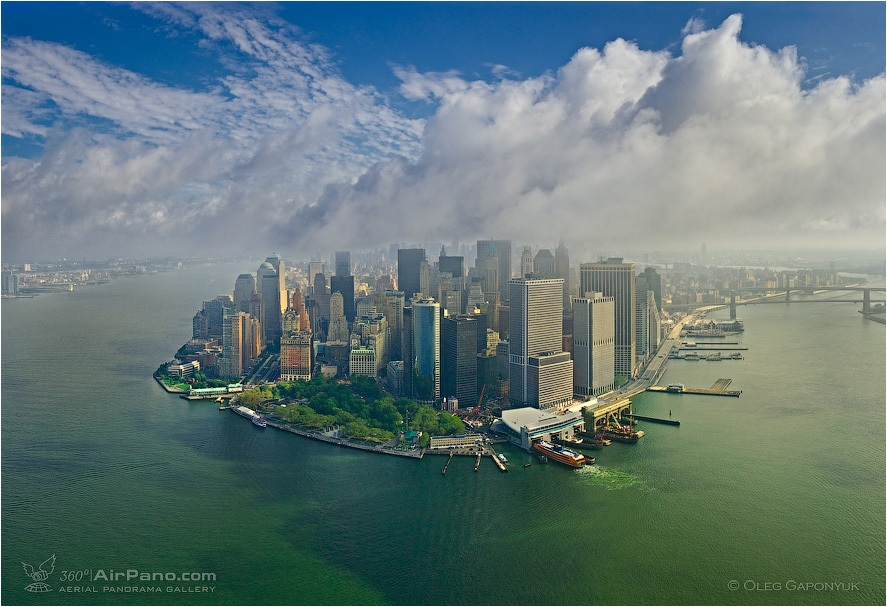 USA, New-York, Financial District view • AirPano.com • Photo