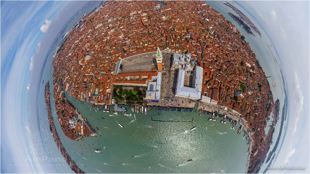 Aerial view of St.Marco Square • AirPano.com • Photo