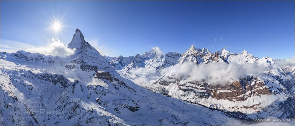 Switzerland, eastern slope of the Matterhorn • AirPano.com • Photo