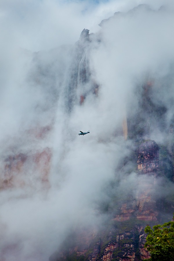 Venezuela, Angel Falls in the fog • AirPano.com • Photo