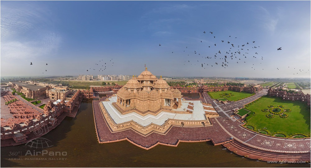 Akshardham • AirPano.com • Photo