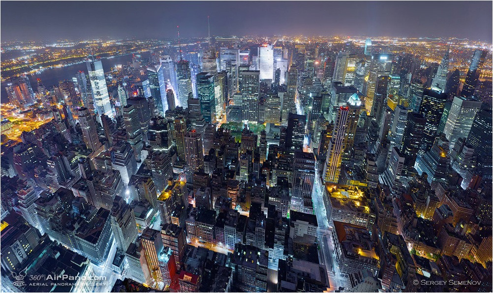 USA, New-York. Night Manhattan • AirPano.com • Photo
