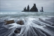 Seastacks Reynisdrangar, Reynisfjar?, Iceland • AirPano.com • Photo