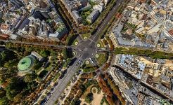 Rond-Point des Champs-Elysees from the altitude of 200 meters