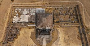 Temple of Quetzalcoatl. Top view