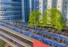 Europe's largest bicycle parking at Central Station