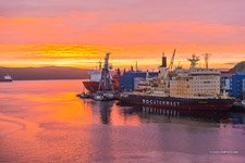 At the Murmansk port