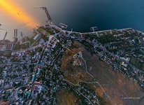Above the mount Mithridat, Kerch city