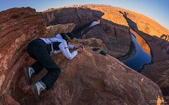 Photoshooting of the Horseshoe Bend of the Colorado River