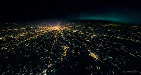 Night flight to stratosphere over the Moscow #2