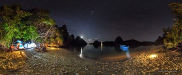 Wayag islands at night, Raja Ampat, Indonesia