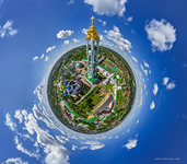 Belltower of the Trinity Lavra of St. Sergius. Planet