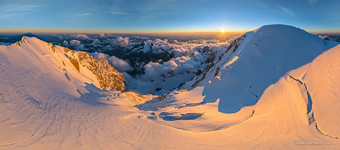 Near Mont Blanc de Courmayeur at sunset