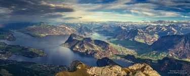 View from the Mount Pilatus
