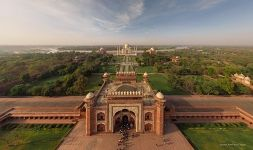 India, Taj Mahal. The Great gate
