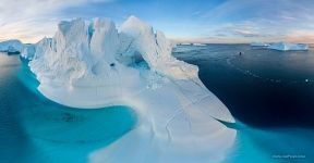 Iceberg with arch, Greenland