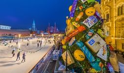Rink and Christmas Tree at the Red Square