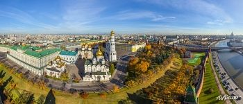Panorama of Moscow Kremlin in autumn
