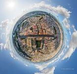Bird's eye view of Seville. Planet