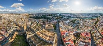 Bird's eye view of Seville