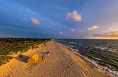 Baltic Sea beach near Nida. Lithuania