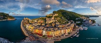 Colourful Houses of Porto Venere. Panorama